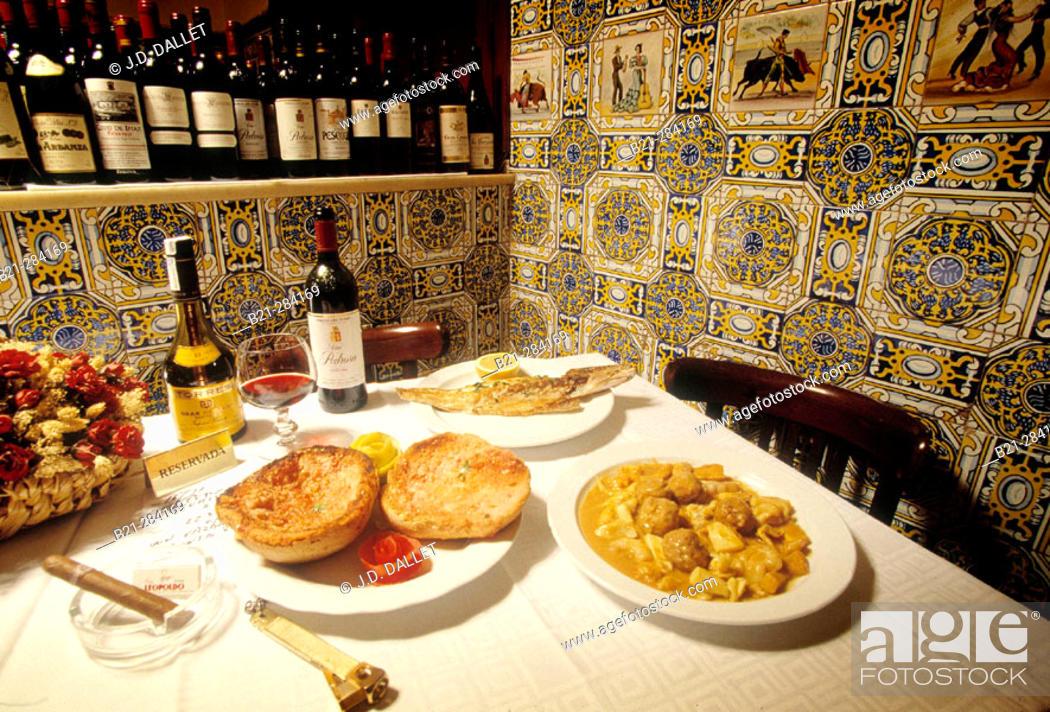 Stock Photo: Casa Leopoldo restaurant. Barcelona. Spain.