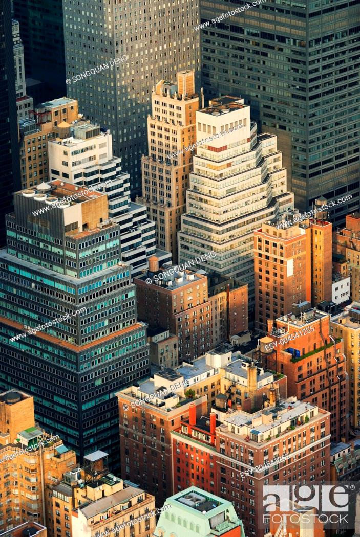 Stock Photo: Manhattan aerial view.