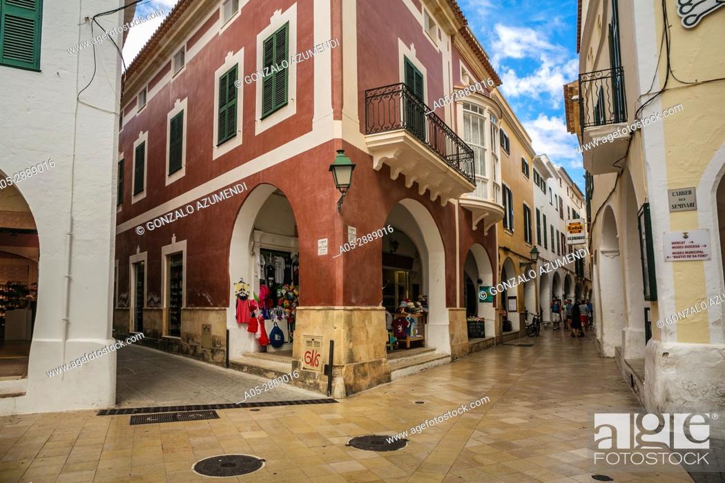 Imagen: Historical Center. Ciutadella. Minorca. Balearic Islands. Spain.
