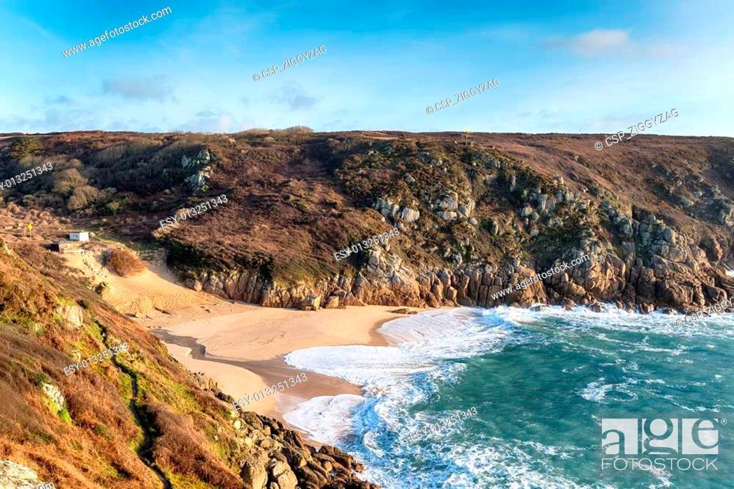 Stock Photo: The Beach at Porthcurno.