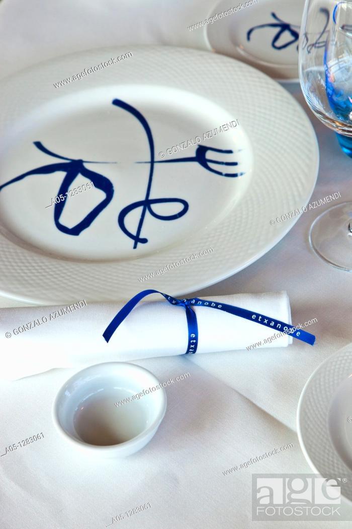 Stock Photo: Etxanobe restaurant Euskalduna Palace. Bilbao. Biscay, Basque Country, Spain.