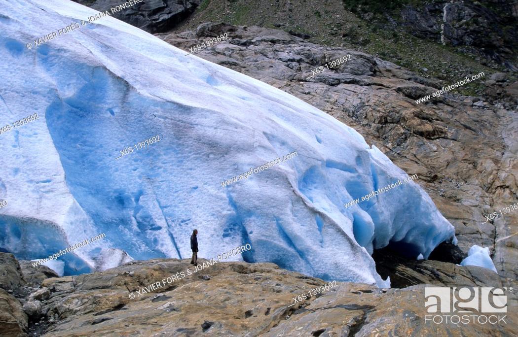 Stock Photo: Svartisen glacier, Norway.