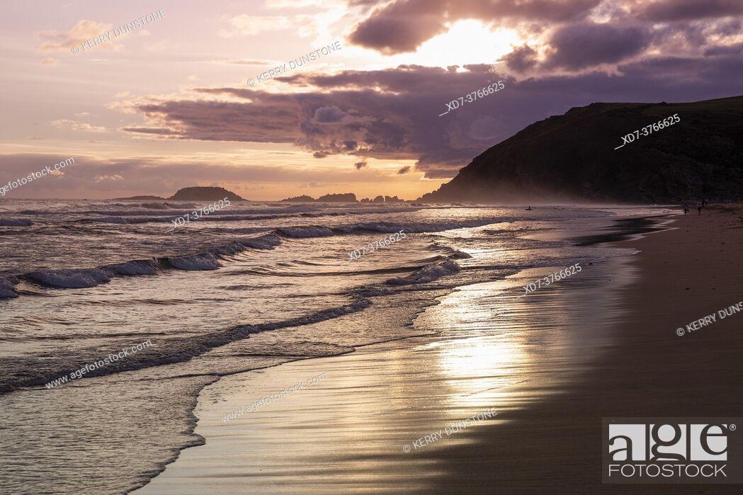 Stock Photo: Europe, Spain, Gipuzkoa, Zarautz Beach, .