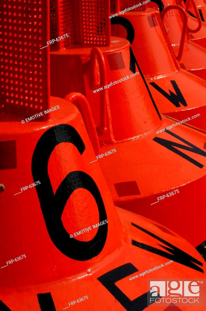 Stock Photo: Red buoy.