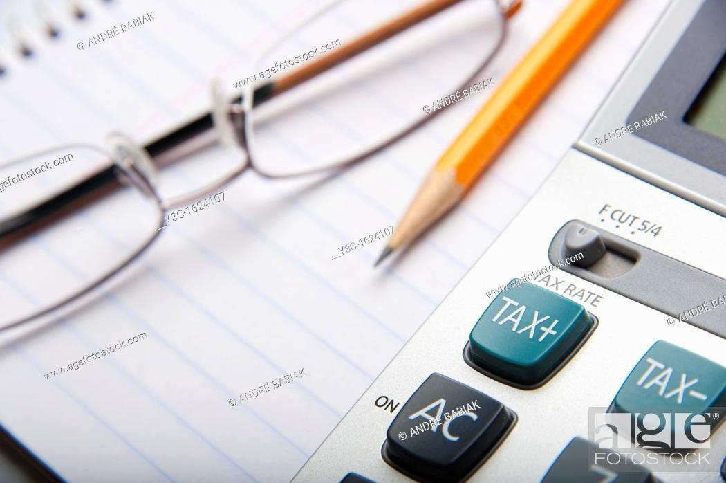 Stock Photo: Tax Season - Filing Your Income Tax Return.