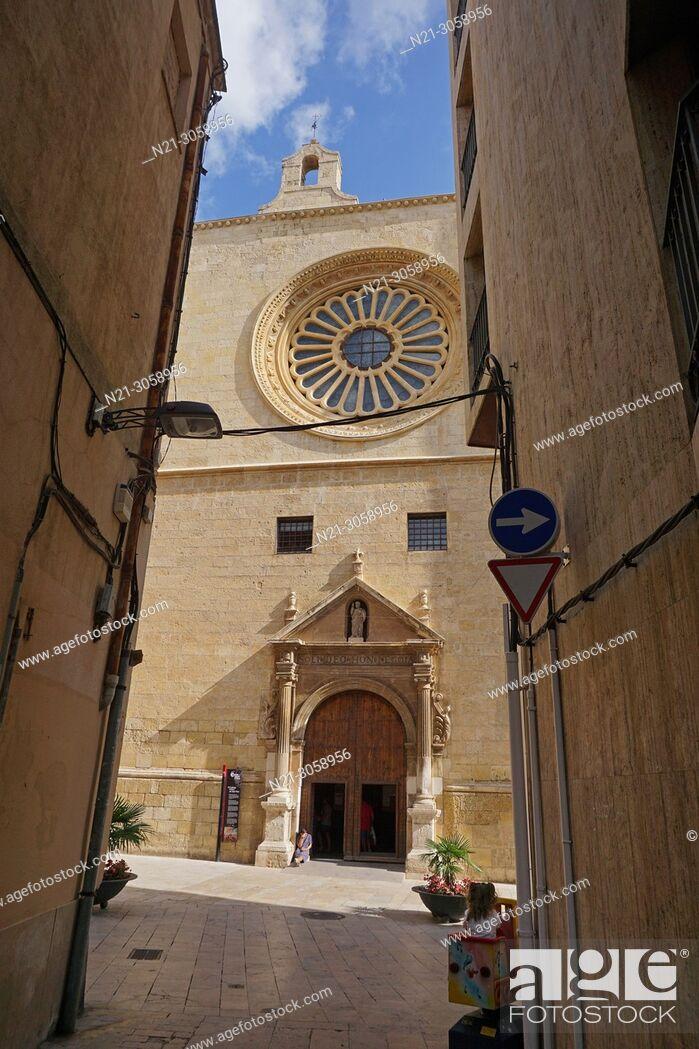 Stock Photo: Mayor Prioral Church of Saint Peter. Reus, Tarragona, Catalonia, Spain, Europe.