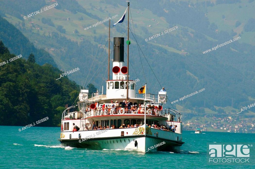 Stock Photo: 'Uri' paddle steamer. Lake Lucerne. Switzerland.