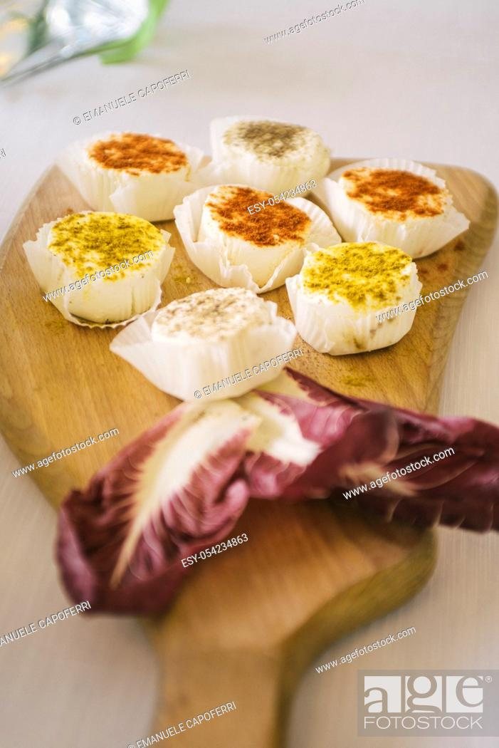 Stock Photo: Canapes cheese.