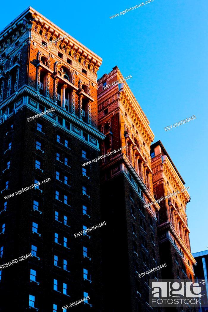 Stock Photo: detail of building at Manhattan, New York City, USA.