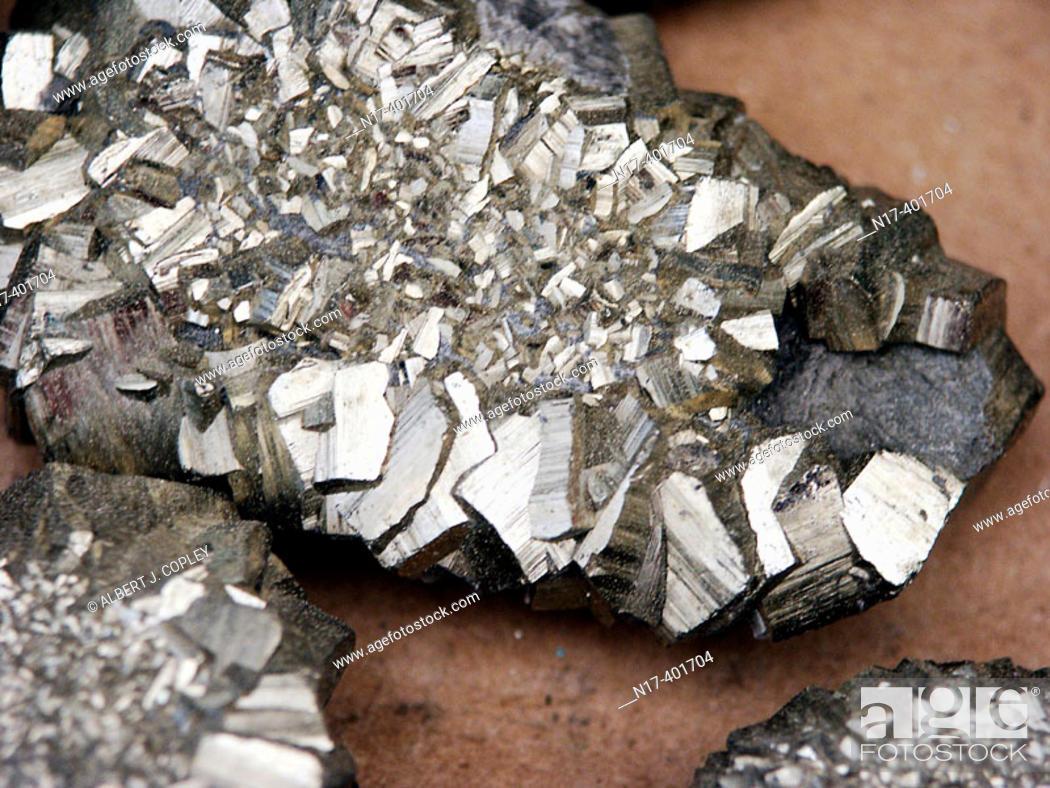 Stock Photo: Pyrite.