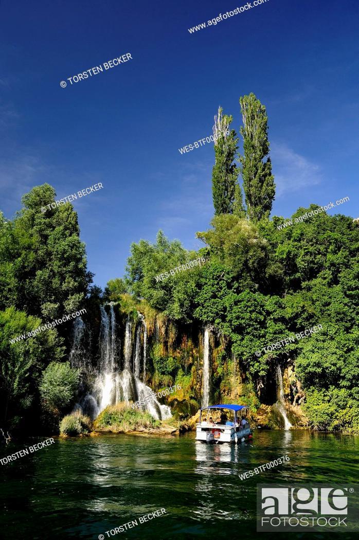 Stock Photo: Croatia, Krka National Park, Roski Slap, waterfall.