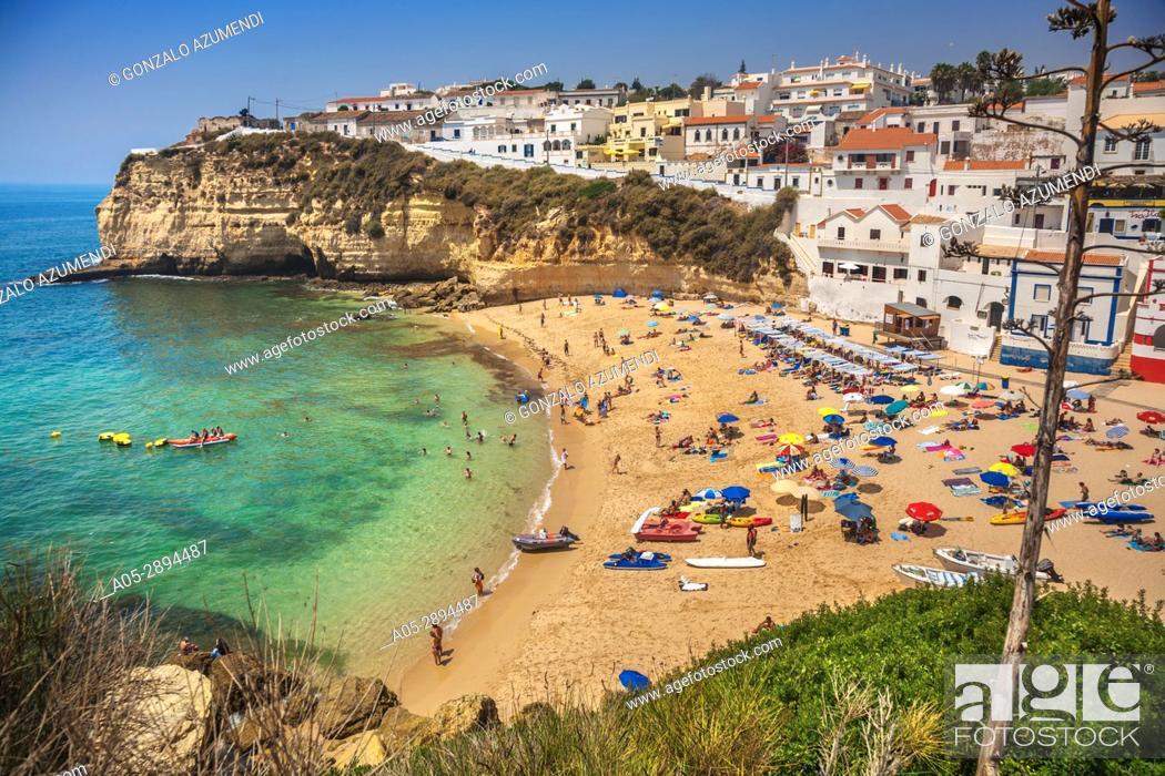 Imagen: Carvoeiro beach. Carvoeiro. Lagoa Municipality. Faro district. Algarve. Portugal.
