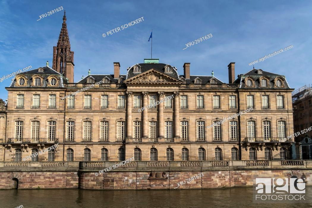 Stock Photo: Palais Rohan and River Ill in Strasbourg, Alsace, France.
