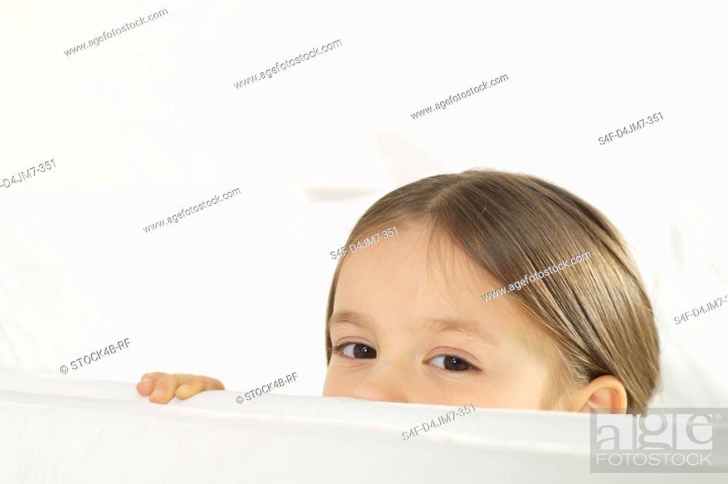 Stock Photo: Girl looking at camera.