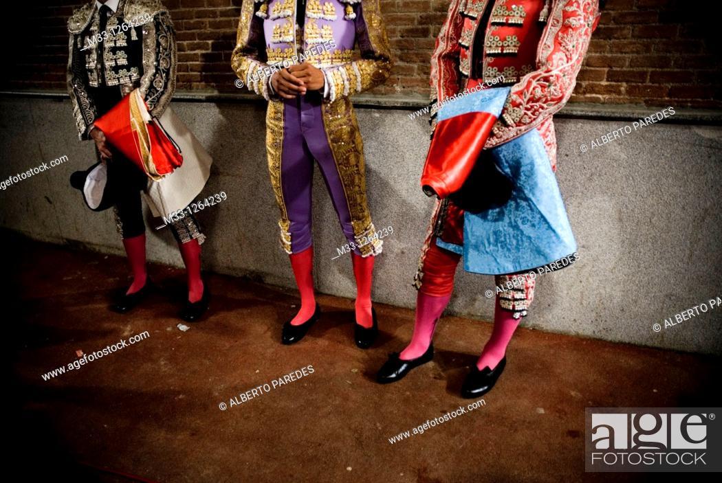 Stock Photo: Bullfighters in Las Ventas bullring, Madrid, Spain.