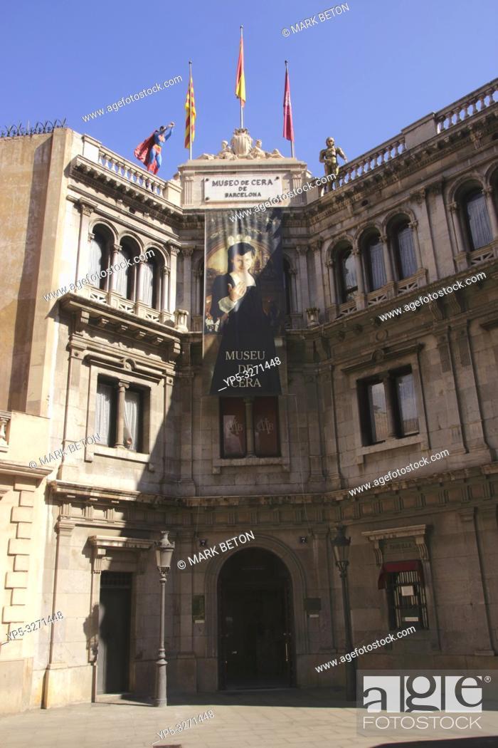 Stock Photo: Museo de Cera Wax Museum Barcelona Spain.