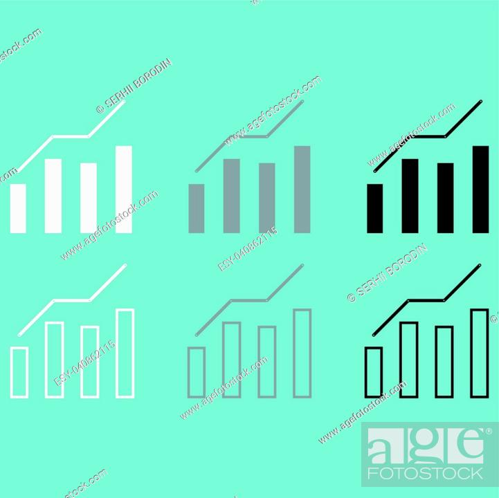 Stock Vector: Diagram of the growth icon set.