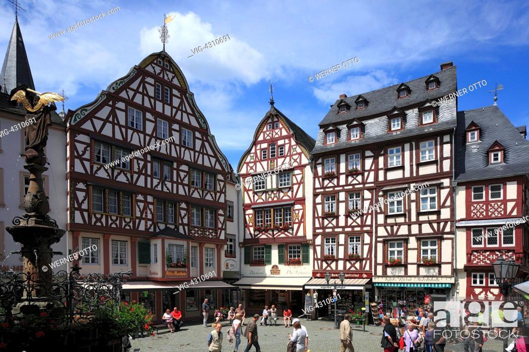 D-Bernkastel-Kues, health spa, Moselle, Middle Moselle, Rhineland ...