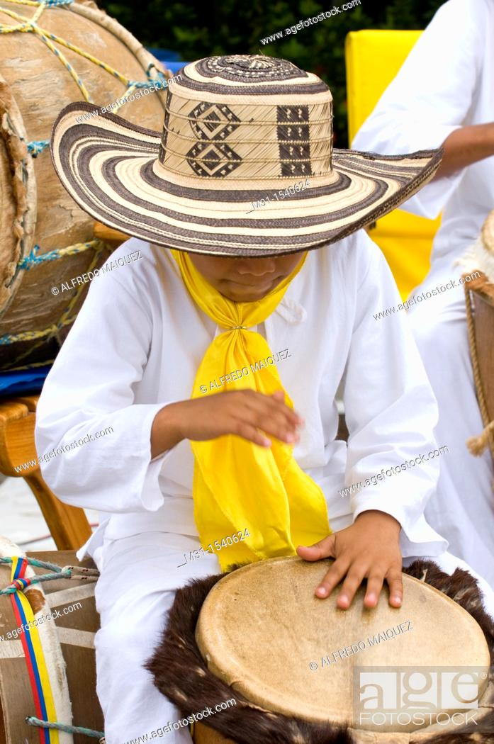 Stock Photo: Young Musicians, November Independence festivities, Cartagena de Indias, Bolivar Department, Colombia, South America.