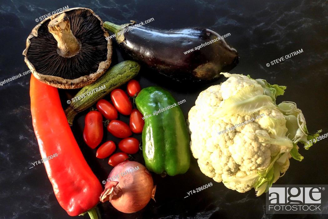 Stock Photo: Healthy, Fresh Vegetables.