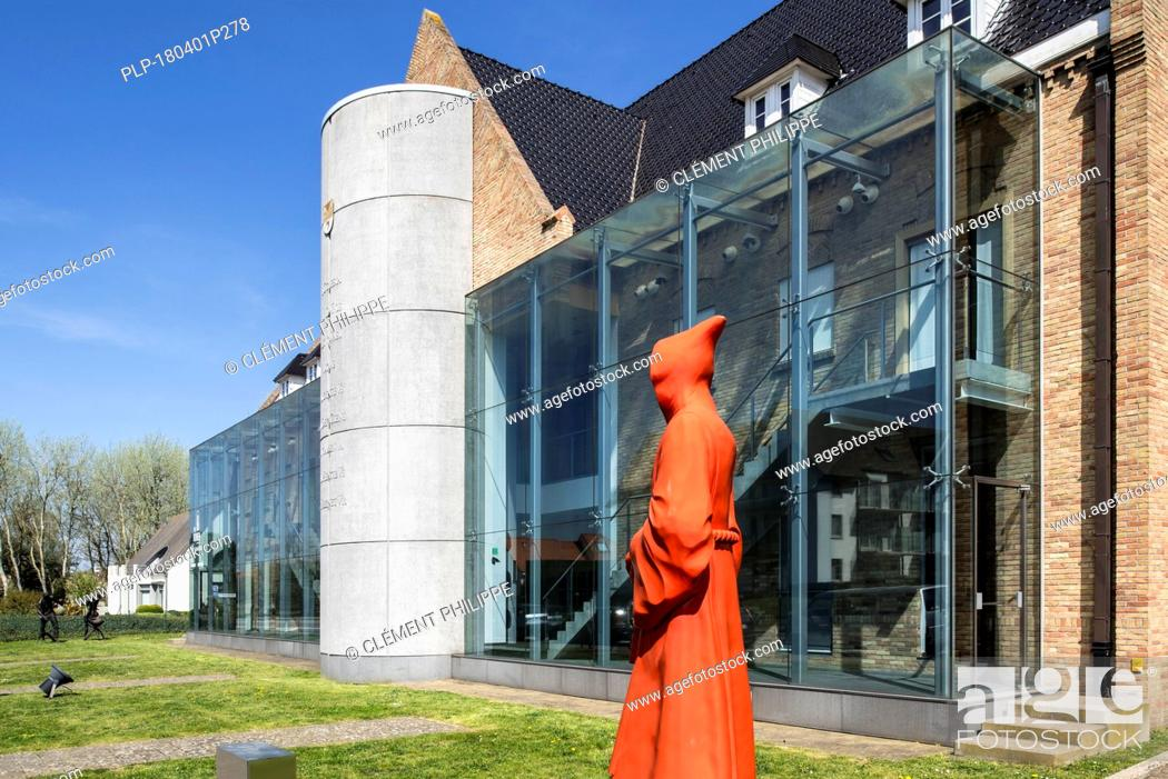 Stock Photo: Ten Duinen museum and archaeological site of the Cistercian Our Lady of the Dunes abbey, Koksijde / Coxyde, West Flanders, Belgium.