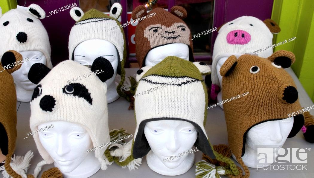 Stock Photo: Mannequin heads with toques.