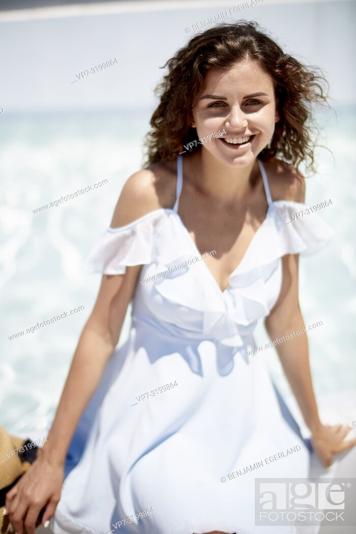 Stock Photo: woman, holiday, summer, portrait.