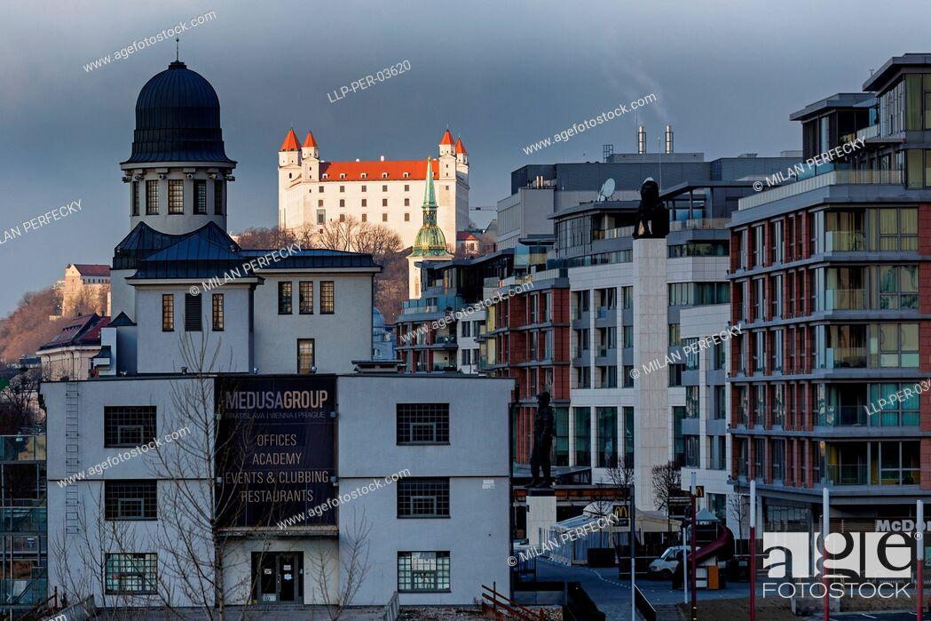 Stock Photo: Castle, City Bratislava - Slovakia.