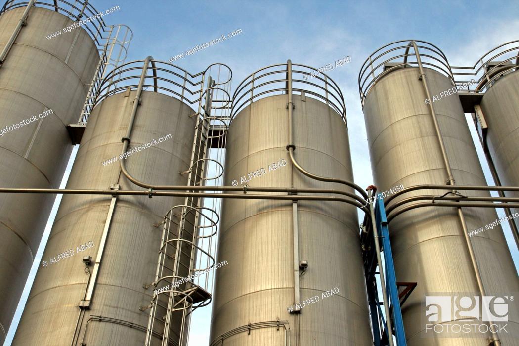 Stock Photo: chemical industrial facility, Baix Llobregat, Catalonia, Spain.