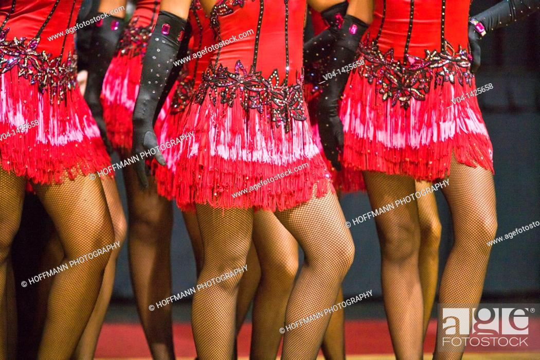 Stock Photo: Pattern of female dancers at a dancing competition in Germany, Europe.