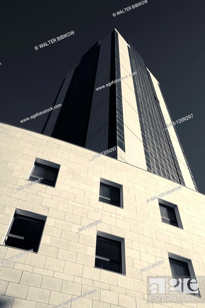 Stock Photo: Malta, Valletta, St Julian's, Portomaso Tower.