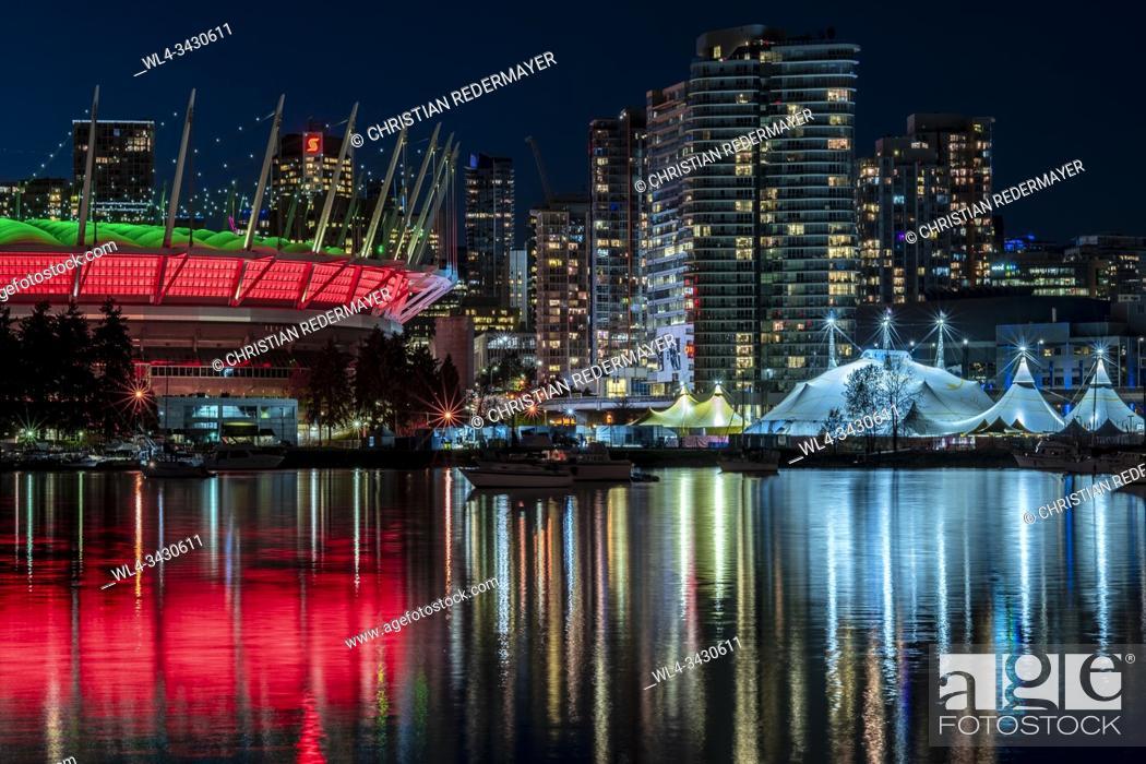 Stock Photo: Cirque du Soleil in Vancouver, British Columbia - Canada close by the BC Stadium.