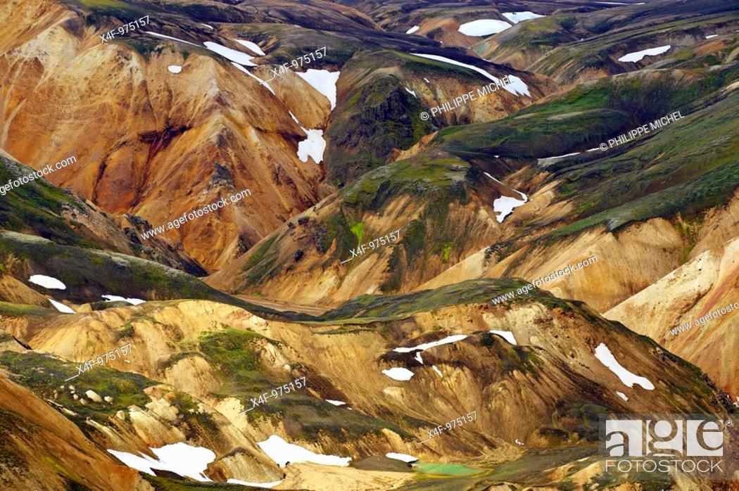 Stock Photo: Mountains at Landmannalaugar volcanic area, Iceland.