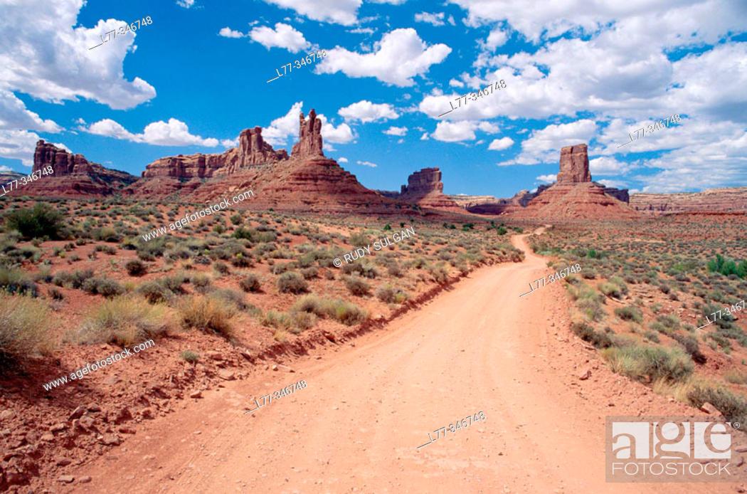 Stock Photo: Valley of the Gods. Utah, USA.