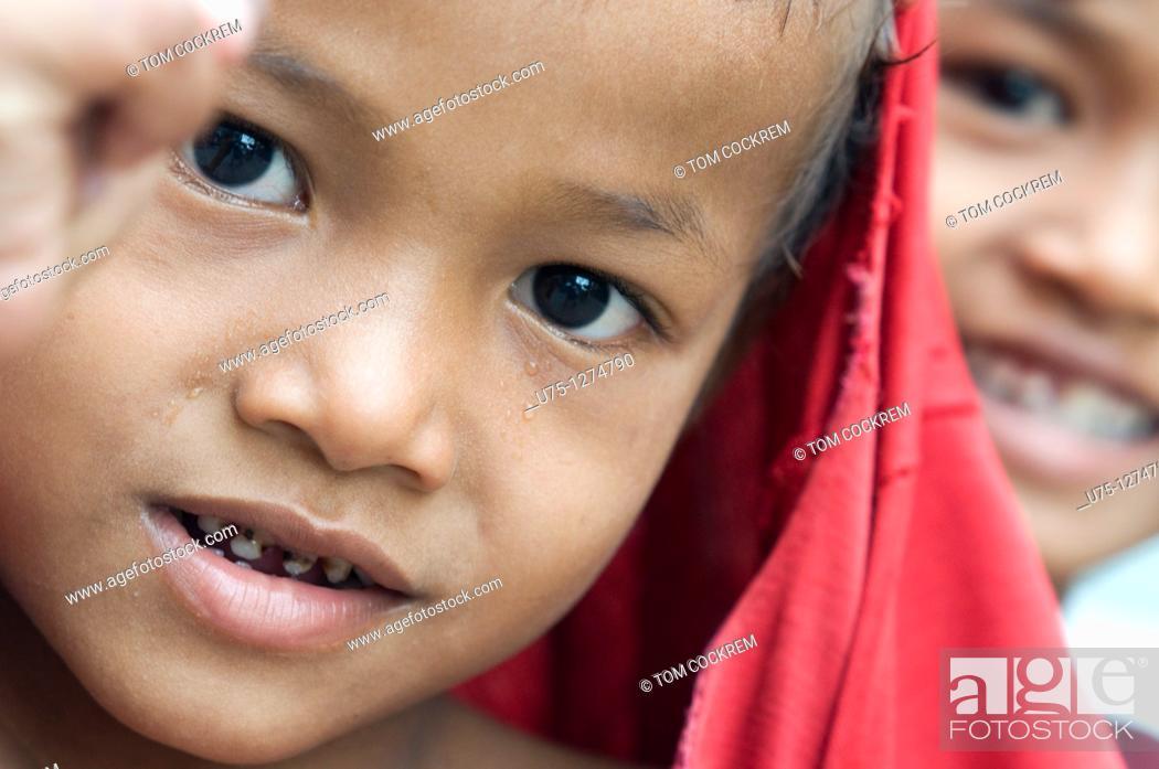 Stock Photo: Boy in Phnom Penh, Cambodia.