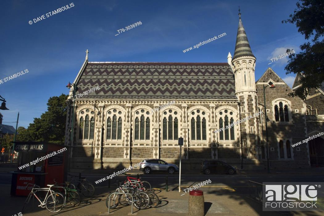 Stock Photo: Arts Centre in a heritage building, ChristChurch, New Zealand.