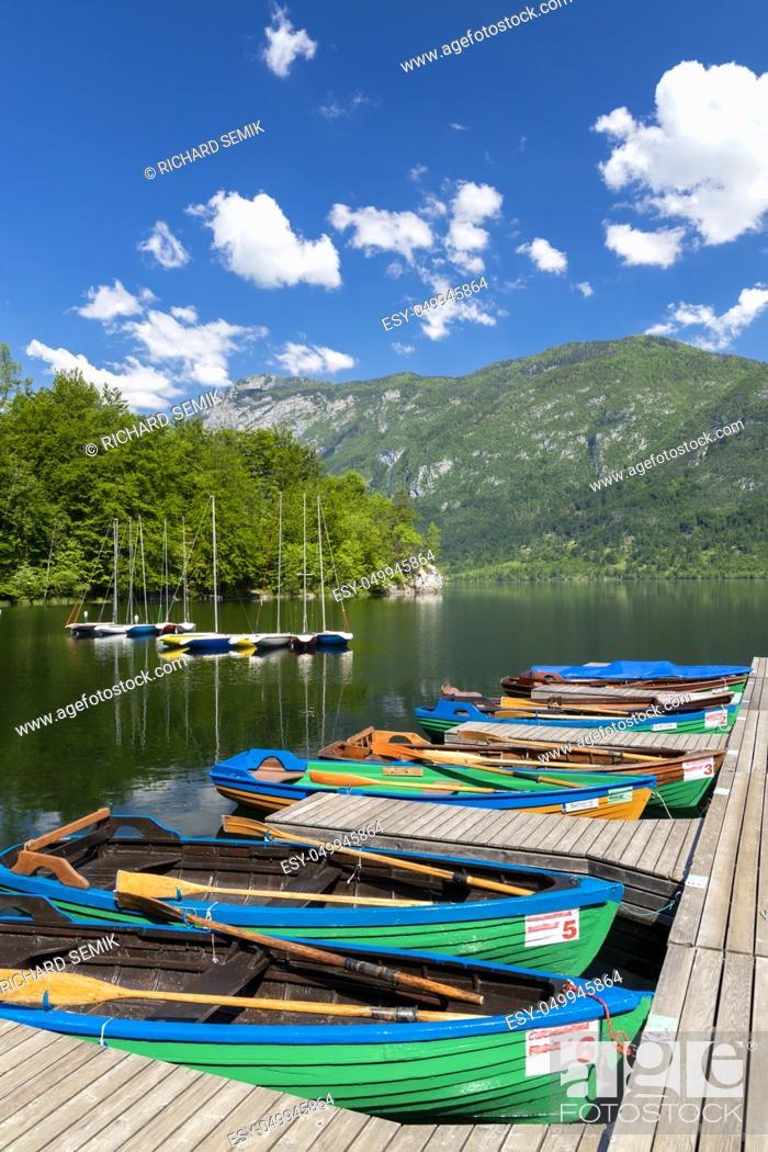 Stock Photo: Lake Bohinj in Triglav national park, Slovenia.