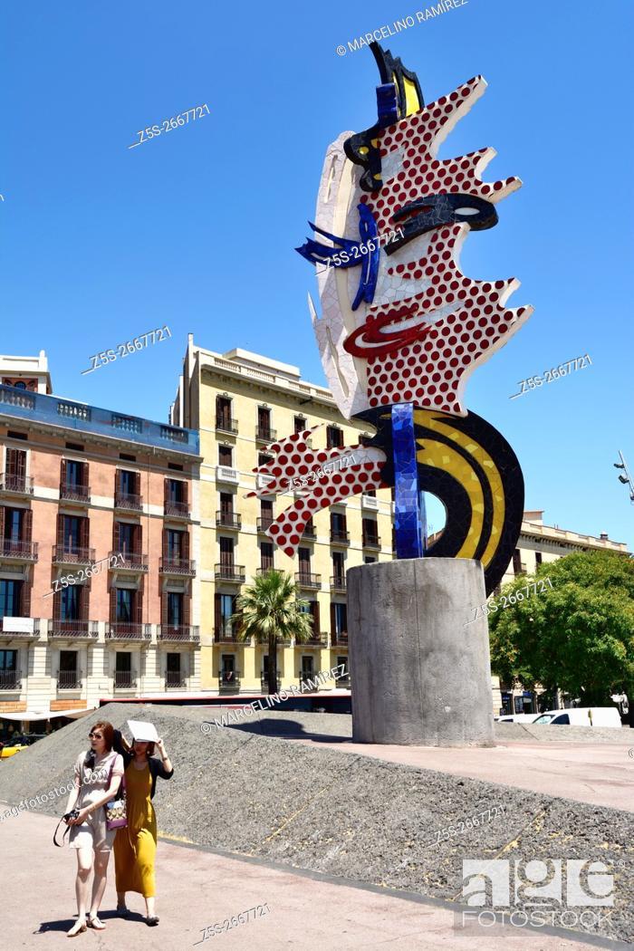 c9a7497822e Stock Photo - El Cap de Barcelona is a surrealist sculpture created by  American Pop artist Roy Lichtenstein for the 1992 Summer Olympics in  Barcelona