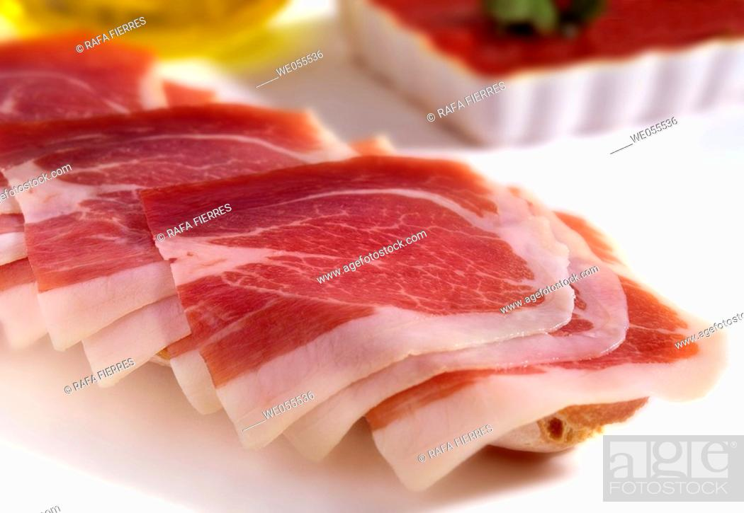 Stock Photo: Cured ham.