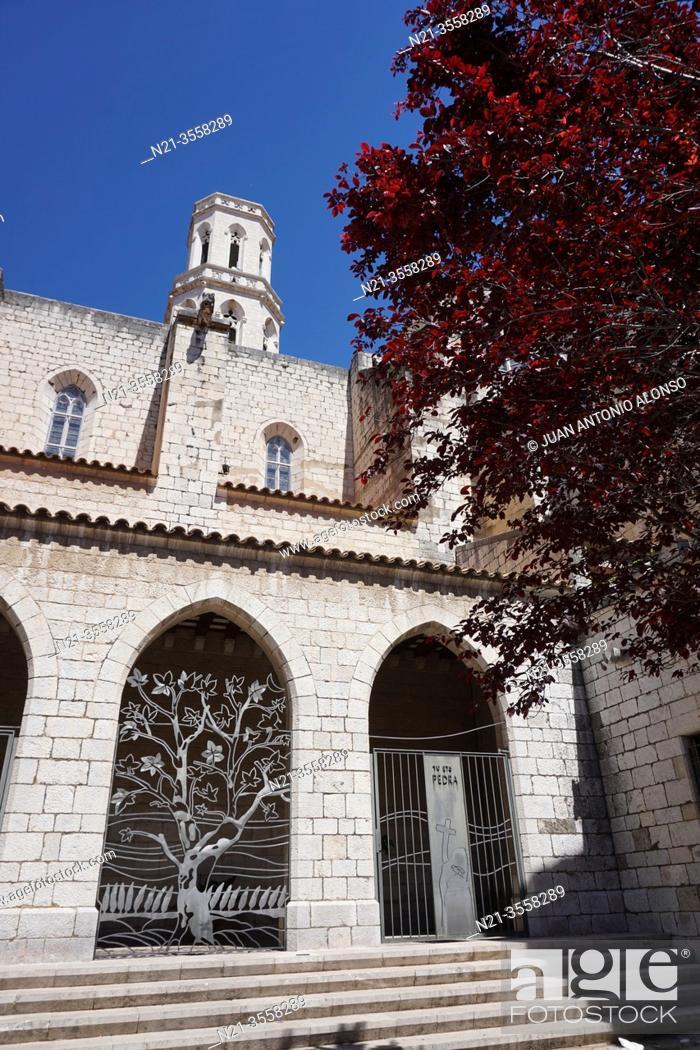 Stock Photo: Sant Pere Church. City of Figueres, Girona, Catalonia, Spain, Europe.