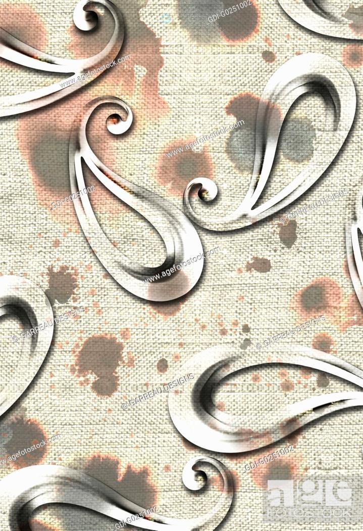 Imagen: Paisley over textured background.