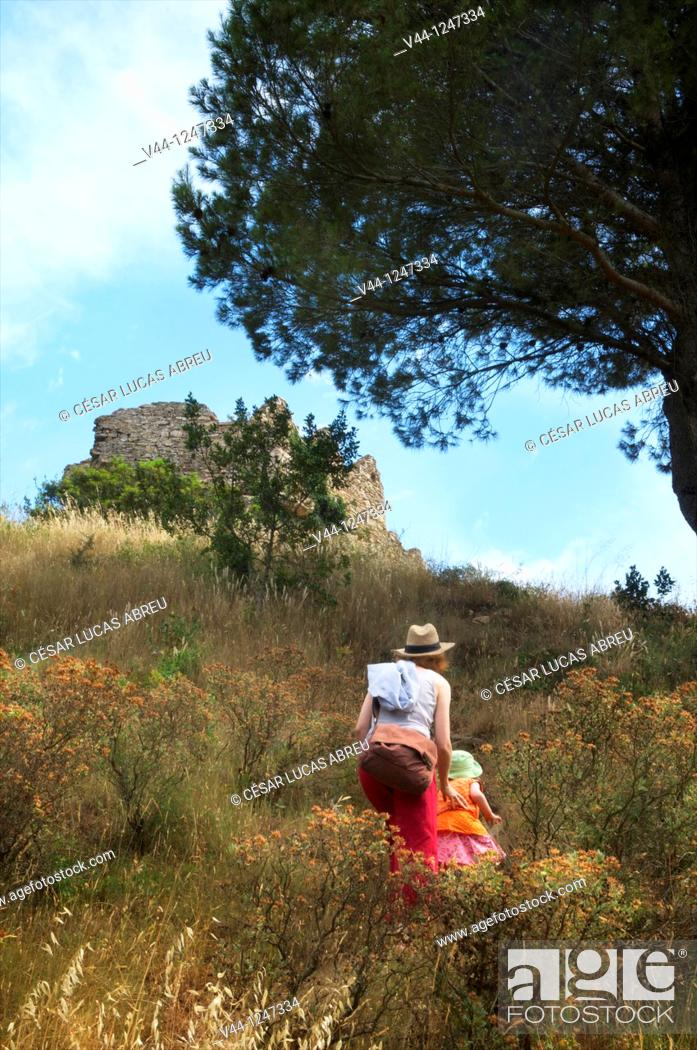 Stock Photo: Castle of Begur, Costa Brava. Girona, Spain.