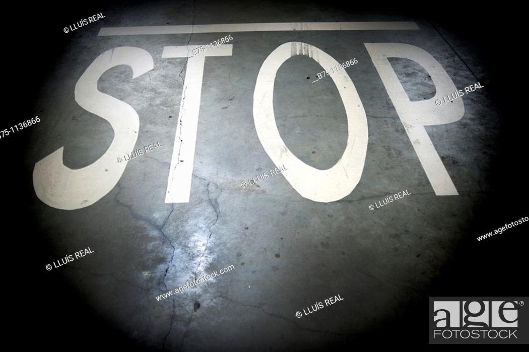 Stock Photo: Stop, signaling.
