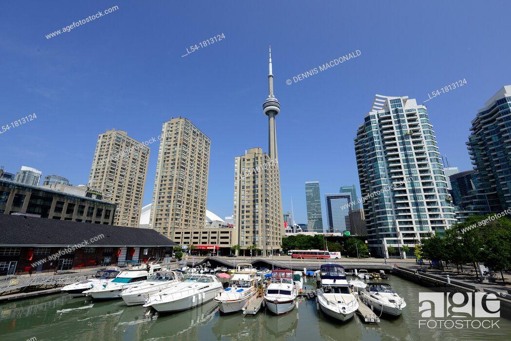 Photo de stock: CN Tower Toronto Ontario Canada.