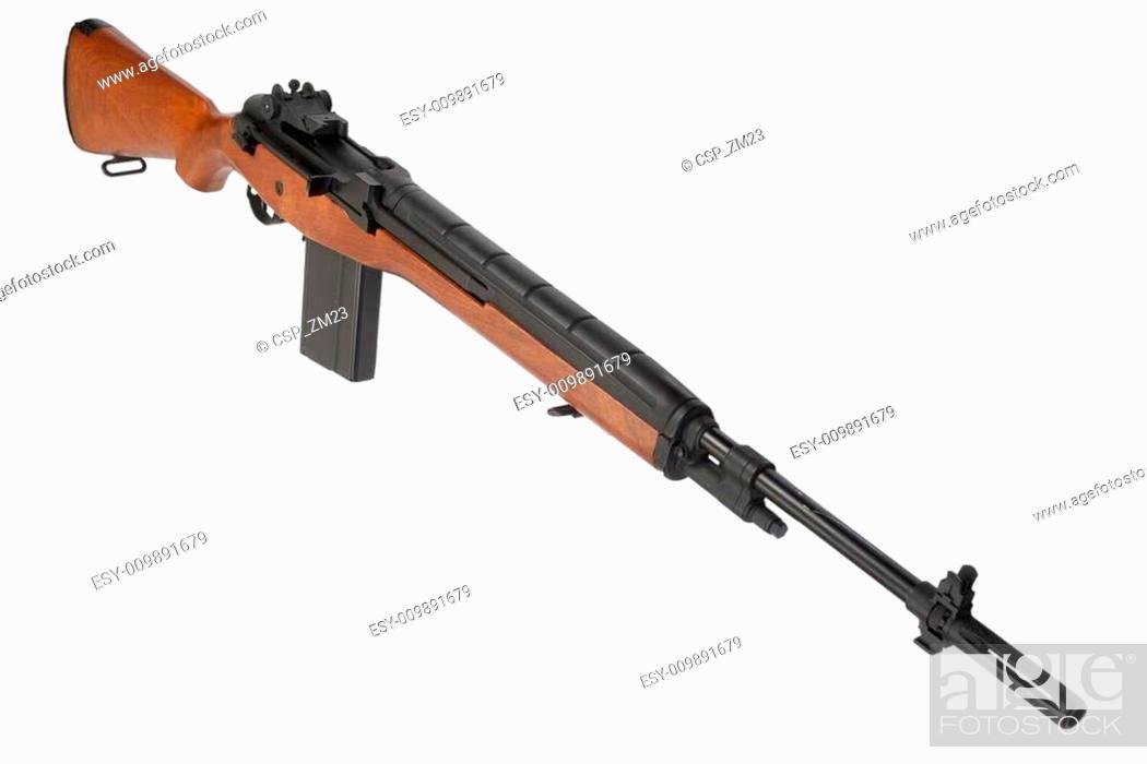 M14 rifle isolated Stock Photos and Images | age fotostock