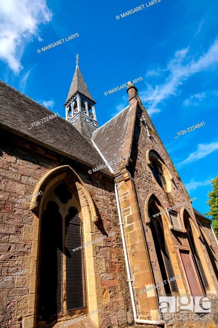 Stock Photo: Luss Parish Church is a Church of Scotland church in Luss, Argyll and Bute.