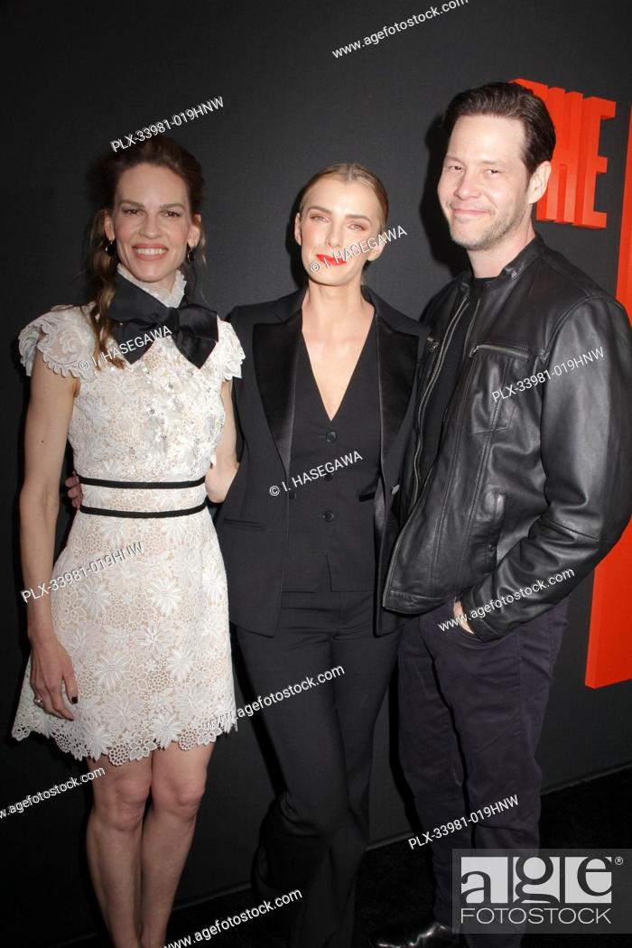 """Stock Photo: Hilary Swank, Betty Gilpin, Ike Barinholtz 03/09/2020 The Special Screening of """"""""The Hunt"""""""" held at The ArcLight Hollywood in Los Angeles, CA."""