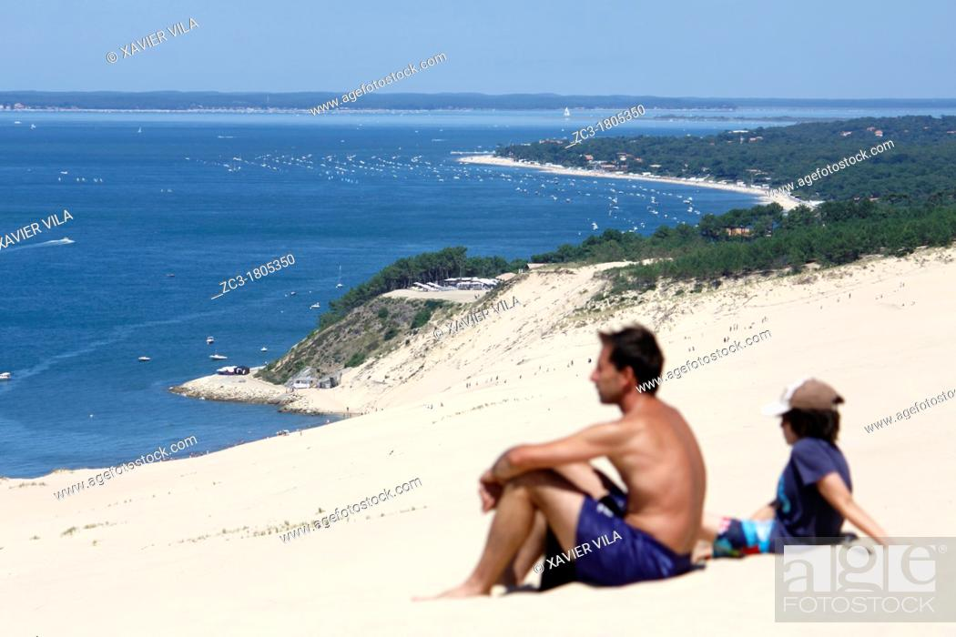 Stock Photo: Dune du Pyla, Gironde, Aquitaine, France.
