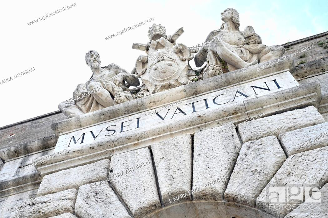 Stock Photo: The Vatican Museums reopen after the last lockdown for the Covid-19 pandemic, Rome, ITALY-03-05-2021 **EDITORIAL NEWS USE ONLY** FOR EDITORIAL USE ONLY.