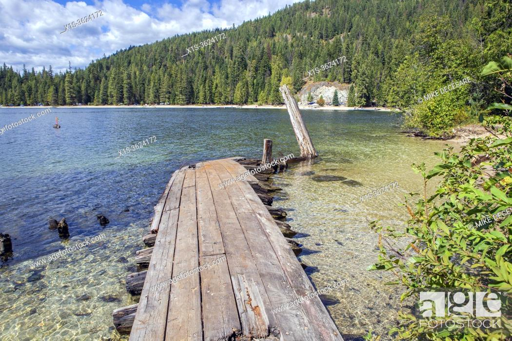 Stock Photo: Priest Lake is the Crown Jewel of lakes in the magnificent outoor oriented State of Idaho, and it is known around the world for its majestic scenery.